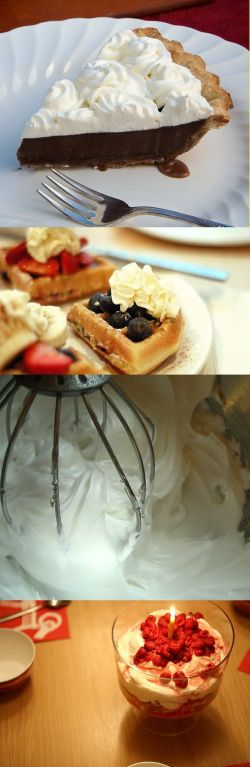Recipe | Stabilized Whipped Cream Topping ... #holiday #dessert #diy