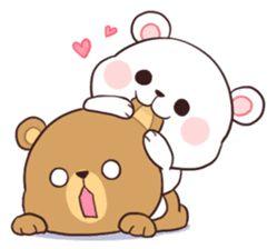Bear Couple : Milk & Mocha sticker #12265825