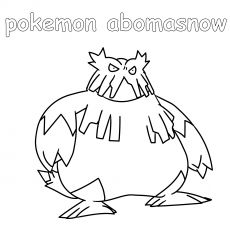 Pokemon Abomasnow Coloring Pages Pokemon Color
