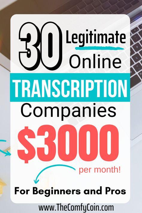 30 Transcription Jobs For Beginners in 2020