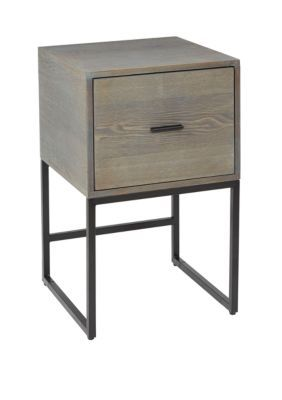 Silverwood Langley 1 Drawer Metal And Wood Side Table In 2019 Black Side Table Wood End Tables Table