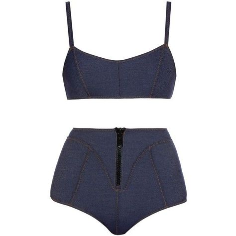 0da6e81e8f7c0 Lisa Marie Fernandez Genevieve Denim-Bikini (170 €) ❤ gefällt auf Polyvore  ... #bikini #denim #fernandez #gefallt #genevieve #marie #polyvore # ...
