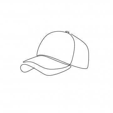 Continuous Line Drawing Of Hats For Summer Isolated Vector Concept Png And Vector With Transparent Background For Free Download Continuous Line Drawing Line Drawing Continuous Line