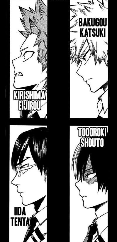 Behold! The ikemen boys of the class approved by Horikoshi (minus