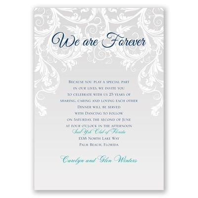 25th wedding anniversary vow renewal invitation | vow renewal, Wedding invitations