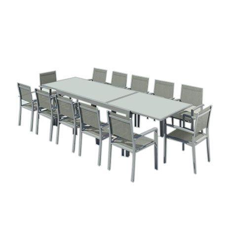 Hara Xxl Table De Jardin Extensible Aluminium 200 320cm 12