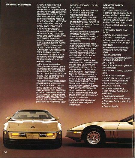 Rebirth Of A Legend 1984 Chevrolet Corvette Brochure Chevrolet Corvette Corvette Chevrolet