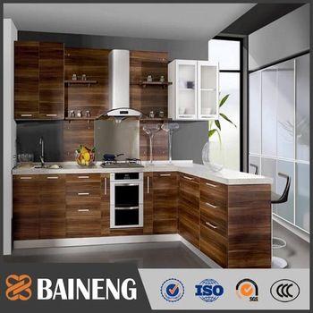 Modern Wood Grain Kitchen Cabinets Https Www Otoseriilan Com Plywood Kitchen Modern Kitchen Cabinet Design Kitchen Design Pictures