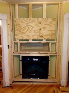 Ecke Des Wohnzimmers Gerahmter Kamin Installiert Nische