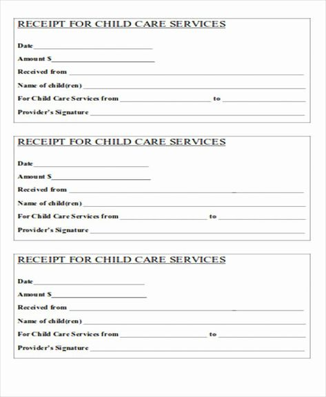 Child Care Receipt Template Inspirational 28 Of Fsa Receipt Nanny Template For In 2021 Receipt Template Child Care Services Free Receipt Template