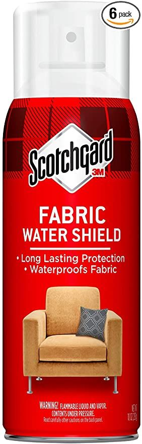Amazon Com Scotchgard Fabric Shield 60 Ounces Six 10 Ounce Cans Ideal For Couches Pillows Furniture Shoes And More Scotchgard Waterproof Fabric Shield