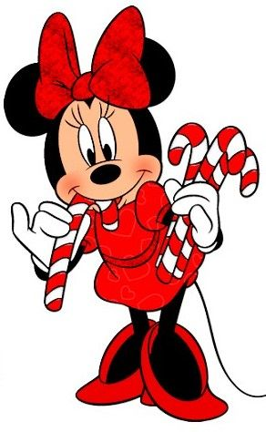 Candy Cane Christmas Minnie Mouse With Candy Canes