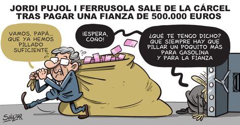 Jordi Pujol Ferrusola sale de la cárcel