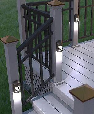 deck solar lighting ideas using solar deck lighting all in home