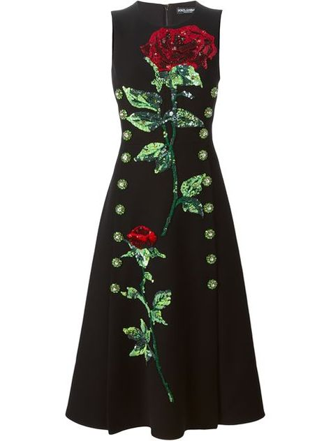 4207377cb3d Shop Dolce   Gabbana sequins embroidered rose dress in Profile from the  world s best independent boutiques at farfetch.com. Shop 300 boutiques at  one ...