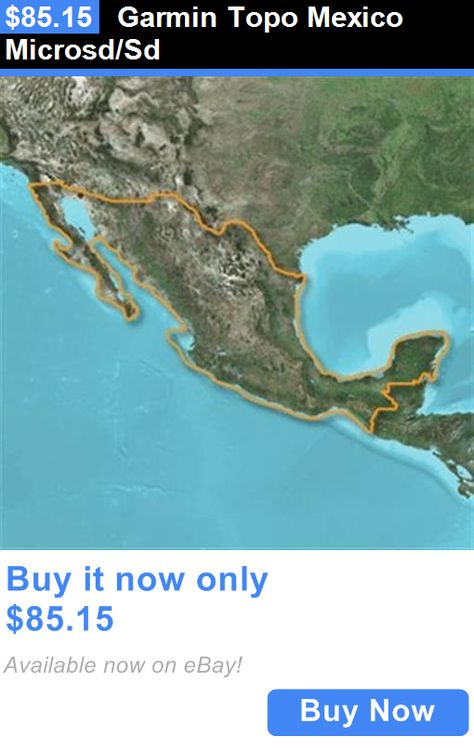 GPS Software And Maps Garmin Topo Mexico MicrosdSd BUY IT NOW - Topo us 24k mountain central map