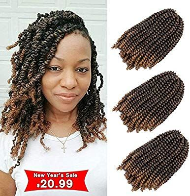 Amazon Com 3pcs Lot Spring Twist Hair Ombre Colors Crochet Braids