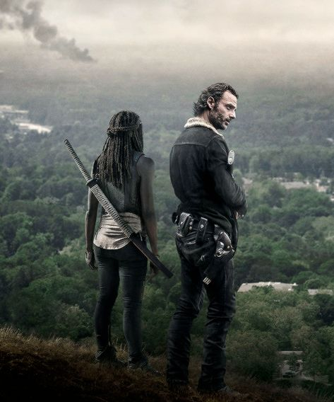 New promotional picture of Rick Grimes and Michonne for The Walking Dead Season 6b