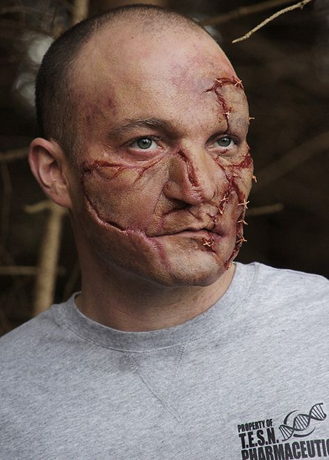Gruesome Patchwork Skin Prosthetics that make the skin appear 'stitched together'. Watch our FREE tutorial video below to get the perfect effect.