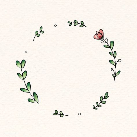 Doodle round floral wreath frame vector   premium image by rawpixel.com / Adj #vector #vectoart #digitalpainting #digitalartist #garphicdesign #sketch #digitaldrawing #doodle #illustrator #digitalillustration #modernart #frame