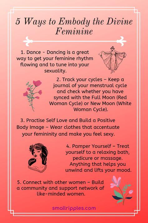 5 Ways To Embody The Divine Feminine
