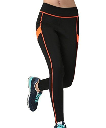 Thenxin Womens Yoga Leggings with Mesh High Waist Stretch Gym Workout Sport Running Capri