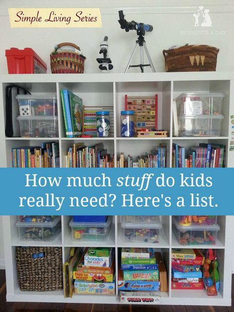 If you are wondering if your kids have too much stuff here is a list of the essentials (plus tips for choosing what to keep)