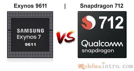 Compare Exynos 9611 vs Snapdragon 712 Chipsets - Mobilesintro.com   Best ram, Samsung, Arm cortex