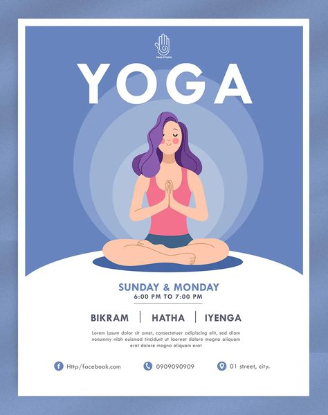 Yoga Flyer Design Template Vector