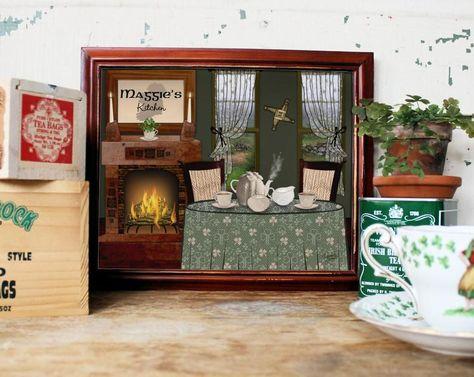 Irish Kitchen Print Personalized Art Print Irish Tea Room Etsy In 2020 Personalized Art Print Personalize Art Kitchen Prints