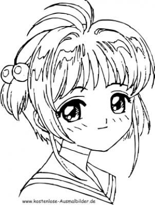 Schule In Axipix Manga Coloring Book Cardcaptor Sakura Anime Artwork