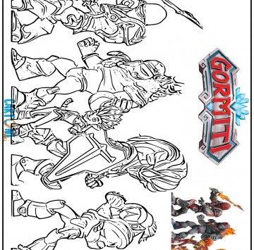 Disegno Gormiti Del Fuoco Da Stampare Cartoni Animati Disegni
