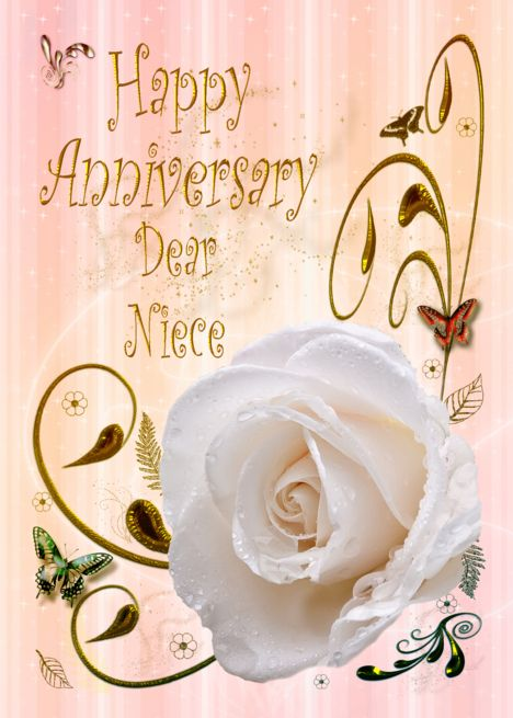 White Rose Happy Anniversary Card For Niece Card Ad Affiliate Happy Rose White An Happy Anniversary Cards Birthday Cards Birthday Cards For Friends