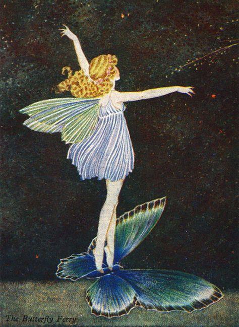 Fairy riding on Butterfly Ida Rentoul Outhwaite Vintage Fairies, Hippie Art, Fairy Paintings, Cute Art, Art, Ethereal Art, Pretty Art, Fairytale Art, Aesthetic Art
