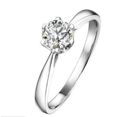 0 5 Carat Brilliant Moissanite Classic Engagement Ring With Natural Diamonds In 14k White Gold Diamond Alternative Engagement Ring Diamond Alternative Engagement Ring Classic Engagement Rings Diamond Alternative Engagement
