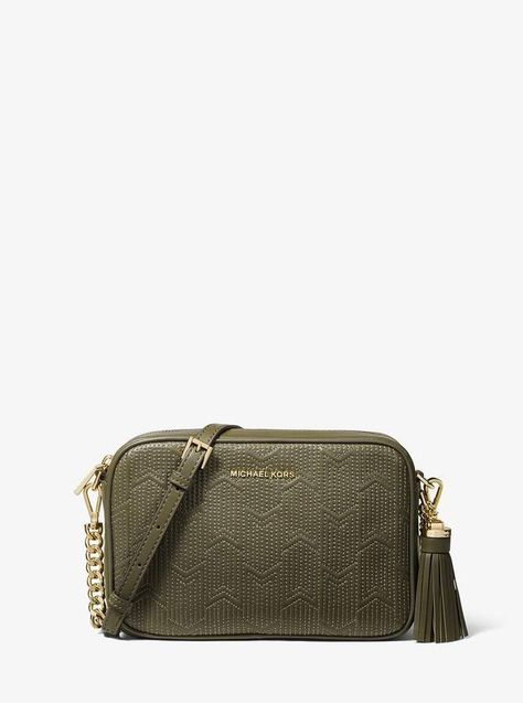 5b4beb7a5 MICHAEL Michael Kors Ginny Medium Deco Quilted Leather Crossbody in ...