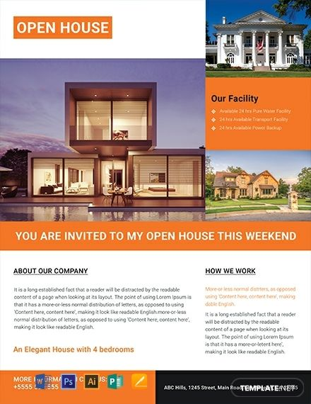 Real Estate Open House Flyer Template Free Jpg Illustrator Word Apple Pages Psd Publisher Template Net Real Estate Flyer Template Open House Real Estate Real Estate Flyer