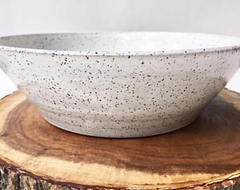 design bowl Large patterned ceramic bowl silver and white fruit bowl round serving bowl ceramic art living and table decoration