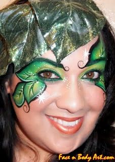 Leaves of Green face paint. Ideas for Maya's Halloween costume :)