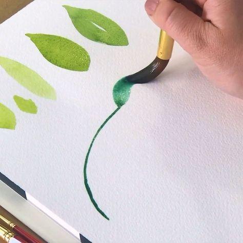 In der Loose Watercolor Flower Academy lernst du, wie man Blumen malt #beautifulflowers #blumen #flowersbouquet #blumenstrauß #flowersgarden