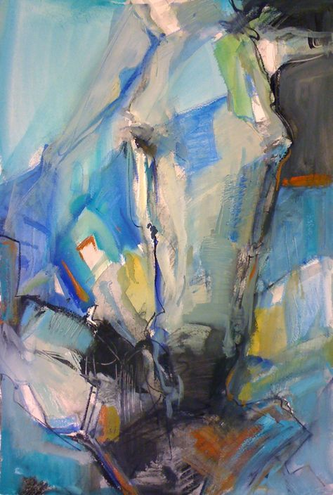 "Spirit Of Overcoming III - Snowman Series:22 x 15"" Watercolor by Lesley Humphrey"