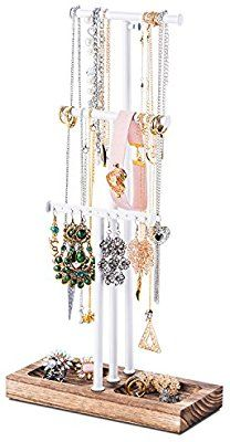 Love Kankei Jewelry Stand Holder White Metal Wood Basic Large Storage Necklaces Bracelets Earrings O With Images Jewelry Tree Stand Metal Jewelry Holder Jewelry Tree
