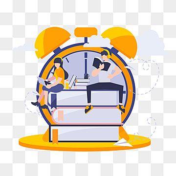 Flat Cartoon Illustration Study Time Education Clipart Study Flat Png And Vector With Transparent Background For Free Download Ilustrasi Kartun Kartun Ilustrasi Vektor