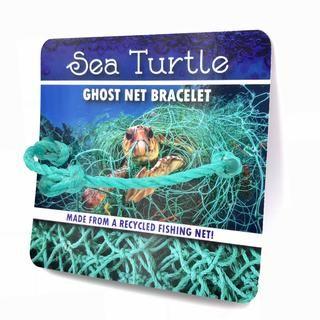 Sea Turtle Net Bracelet Netted Bracelet Sea Turtle Awareness Bracelet