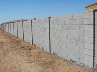 Block Wall Fence Di 2020