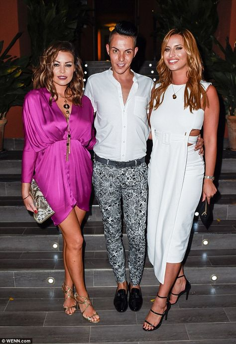 Let's party! Jessica was joined by co-stars Bobby Cole Norris and Ferne McCann...