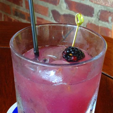 Wild berry spritzer- so refreshing!  Muddle strawberries, blackberries, and raspberries, strain, mix with a bit of OJ, add a splash of simple syrup and soda, add vodka to taste.