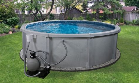Portable Pools For The Small Space In Your House Modern Portable Pools Grey Color Sophisticated Pump Design