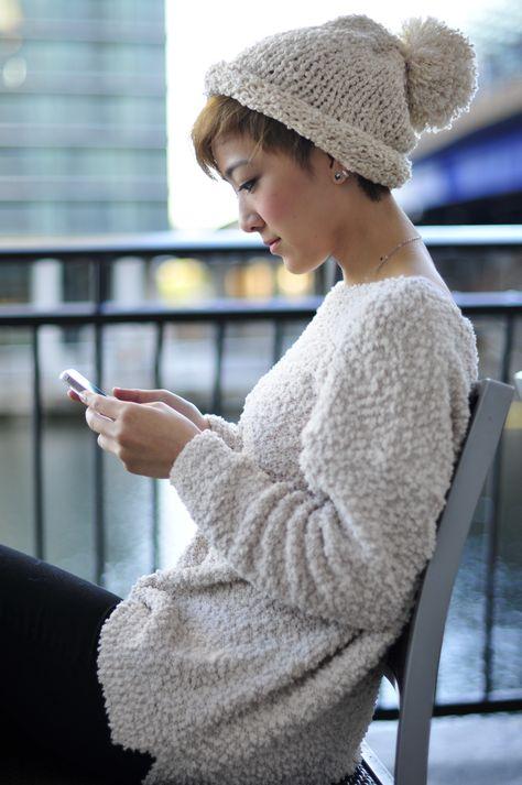 Super Knitting Beanie Short Hair 38 Ideas