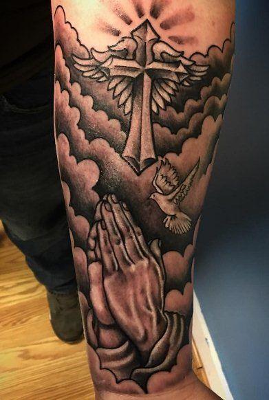 God Tattoos On Arm : tattoos, Praying, Hands, Tattoos, Those, Faith, Tattoo,, Shoulder, Forearm